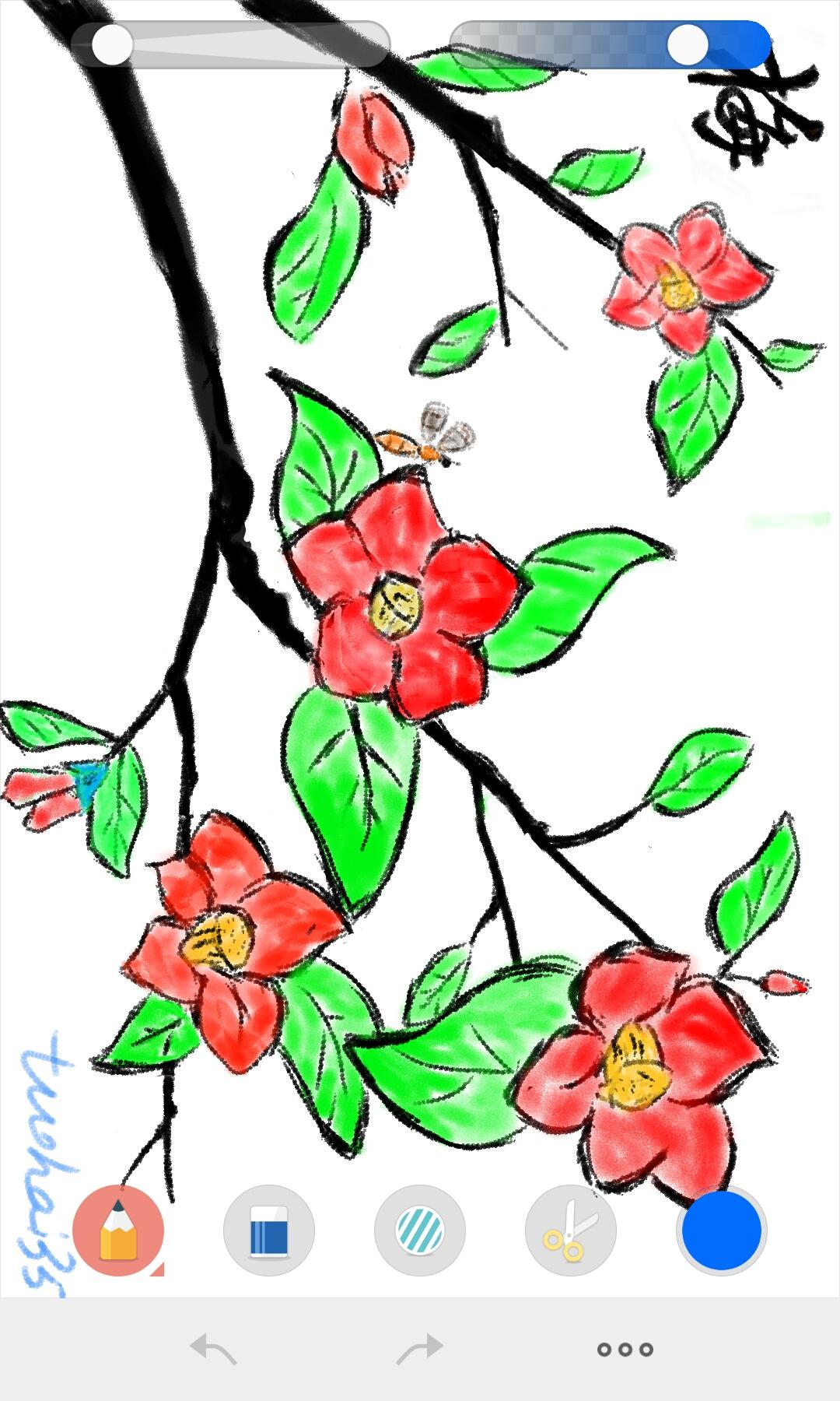 文艺花朵矢量图